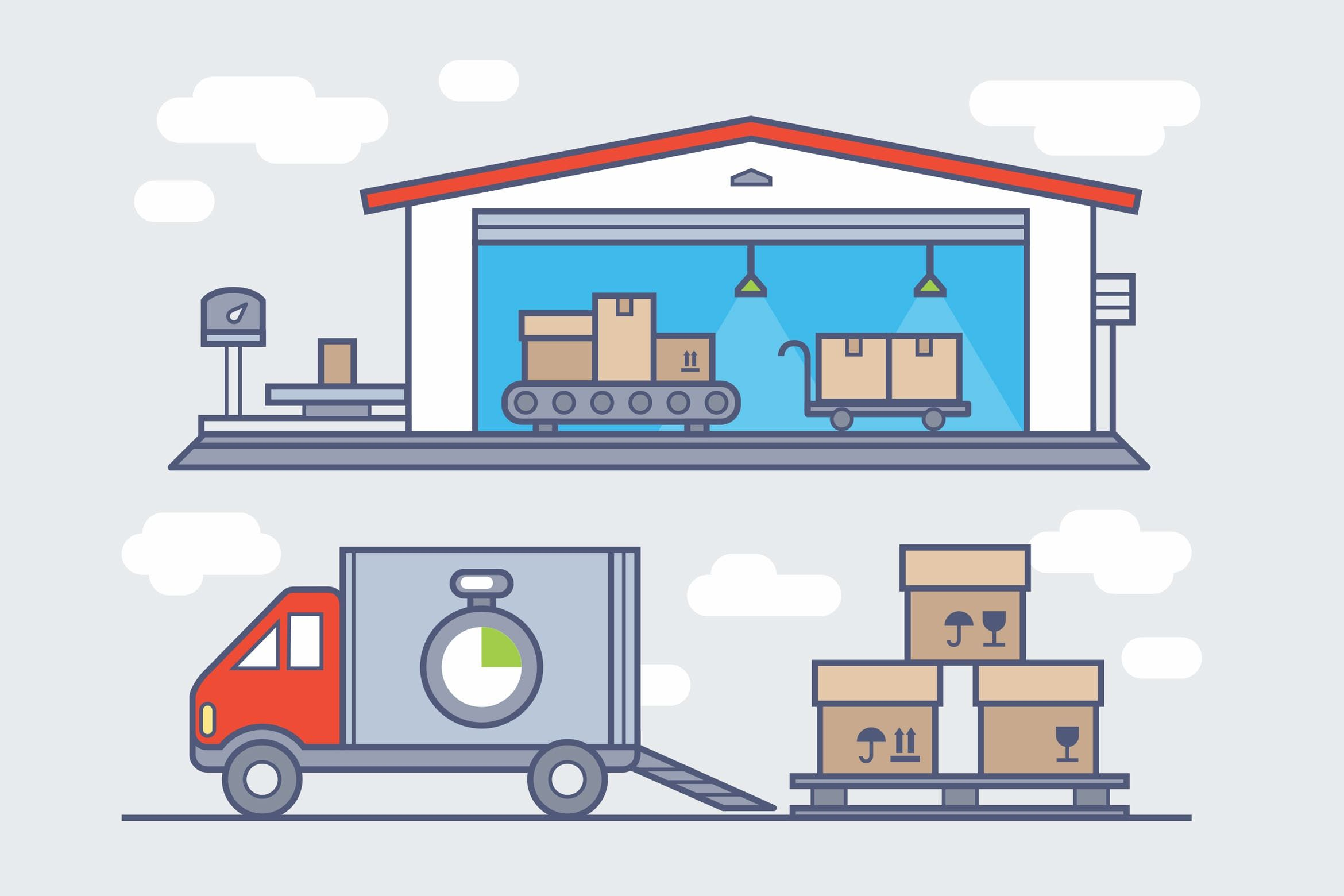 graphic royalty free stock Warehouse clipart. Logistics storage .