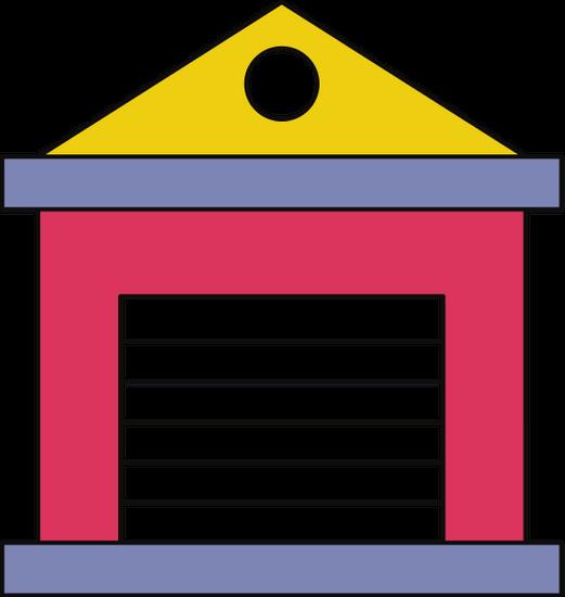 clip art free stock Warehouse Icon or Symbol