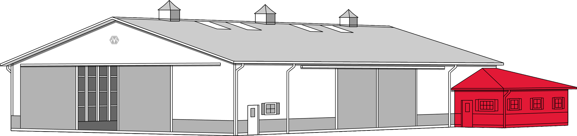 svg black and white library Repairs morton buildings building. Warehouse clipart pole barn