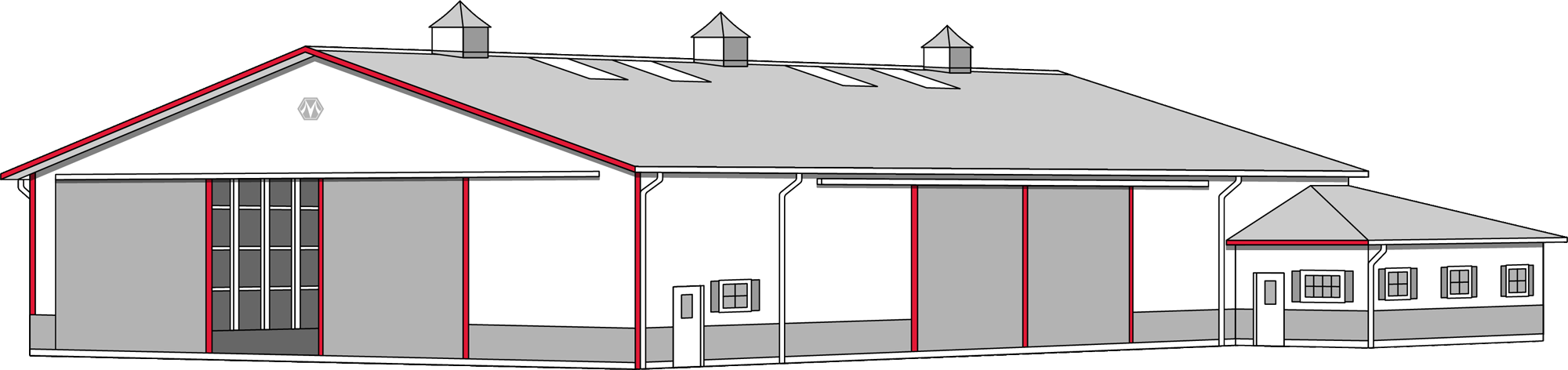 clip black and white download Warehouse clipart pole barn. Repairs morton buildings steel.