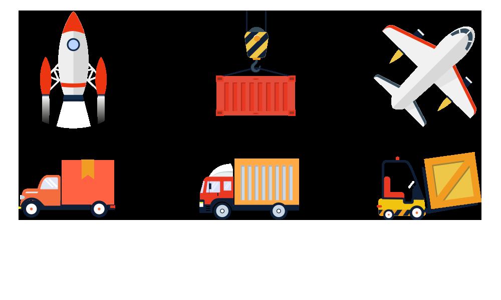 vector freeuse stock Logistics hub free on. Warehouse clipart warehouse picker