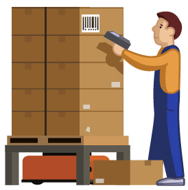 image black and white library Warehouse clipart warehouse picker.  collection of picking