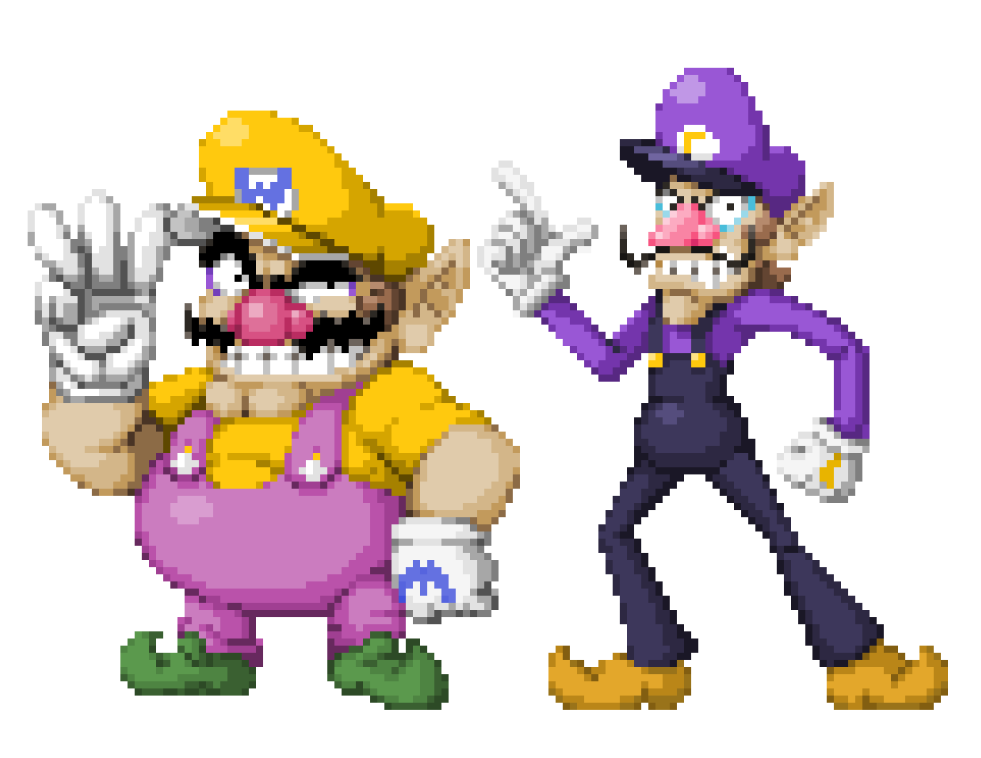 picture black and white download Wario transparent waluigi. By superphil on newgrounds