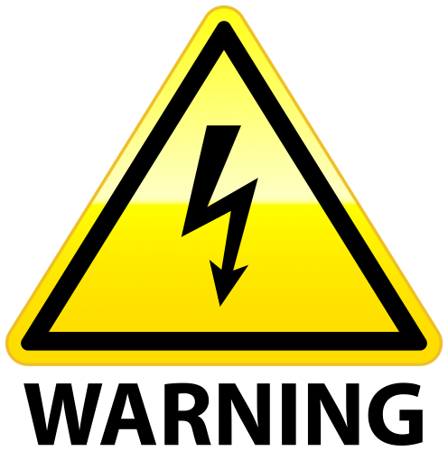 graphic freeuse stock High voltage png clip. Warning clipart