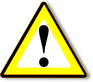 banner royalty free Black Yellow Warning Clip Art at Clker