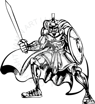 clip library library Warrior clipart warrior shield. Holding sword and