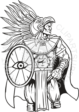 picture royalty free download Aztec Warrior with Shield