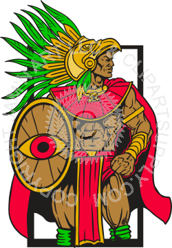 picture transparent stock Warrior clipart warrior shield. Colored aztec with