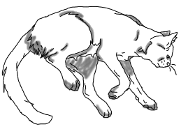 svg transparent library Edited cat pose so u can color by Warrior