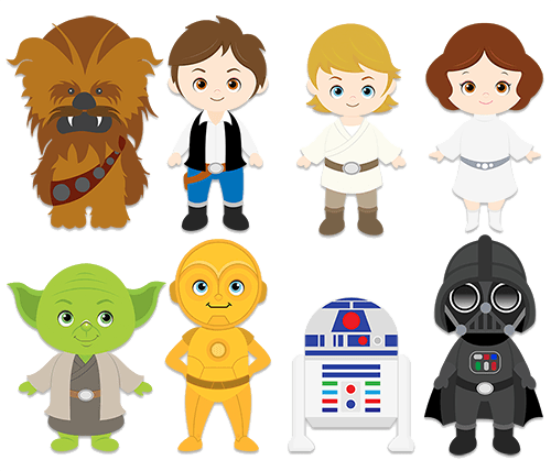 clip free Wars clipart. Wall stickers for kids.