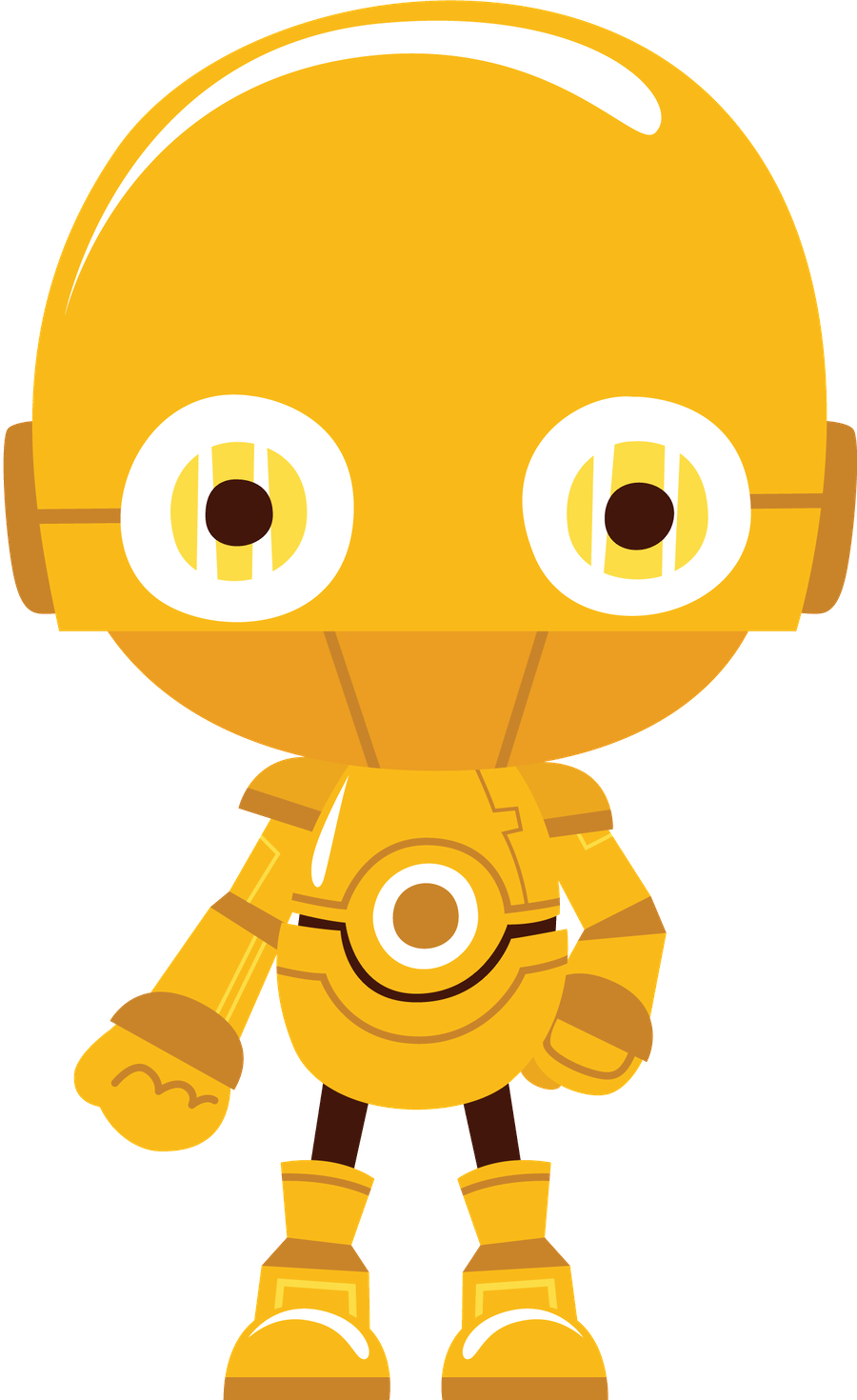 banner stock Star Wars Clipart orange robot