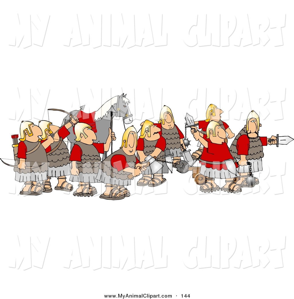picture library library Battle . Medieval army clipart