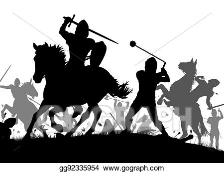vector transparent stock Wars clipart medieval army. Vector illustration war stock
