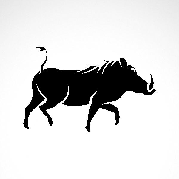 image library stock Simple color vinyl Razorback Wild Hog