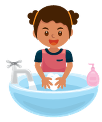 image free stock Washing hands get away. Wash clipart