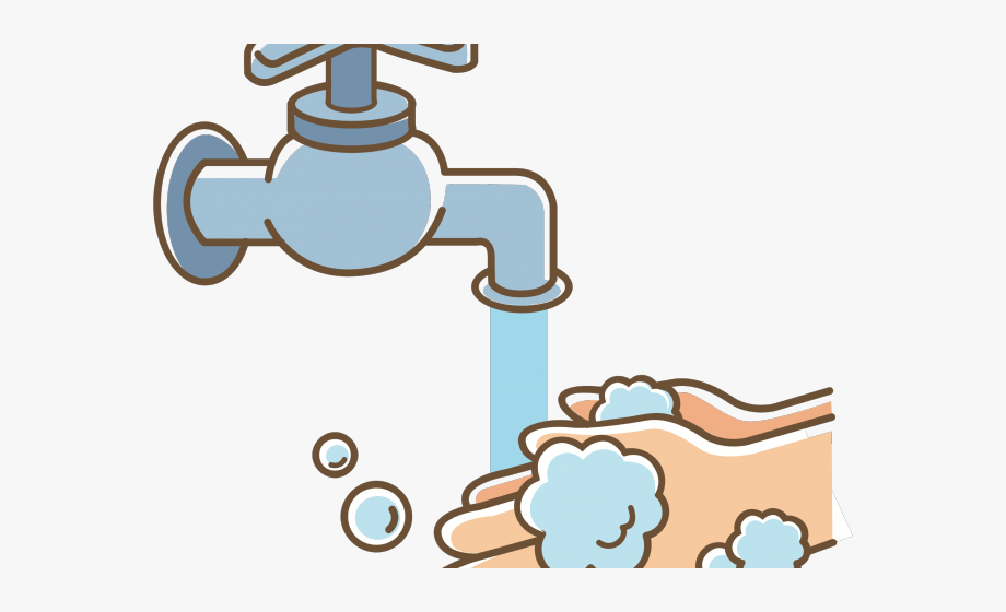 clip freeuse download Wash clipart. Tap hand hygiene cartoon.