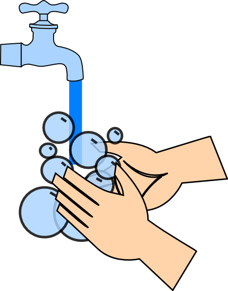 vector transparent stock Hand Washing Free Clipart