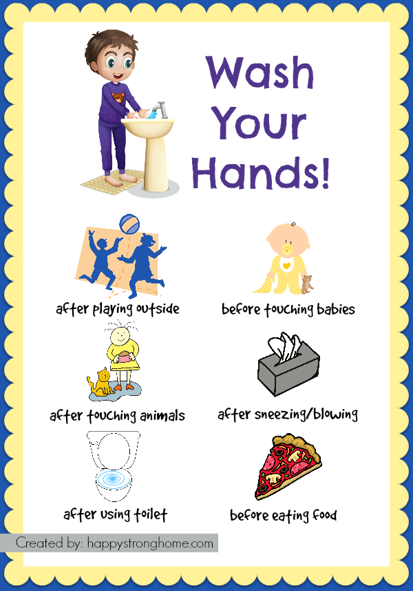 vector freeuse stock Hygiene habits for kids. Wash clipart healthy eating habit