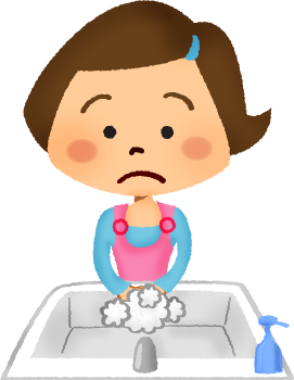 clip art freeuse download Girl washing hands free. Wash clipart person