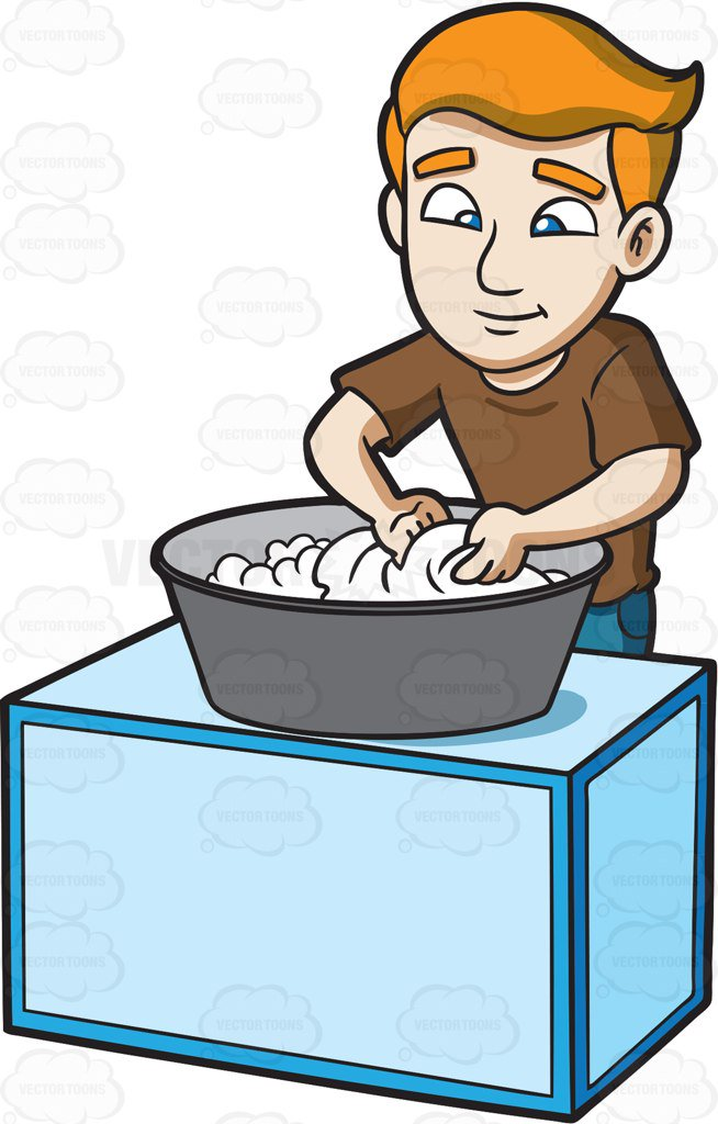 clipart black and white Hand washing cartoon free. Wash clipart person