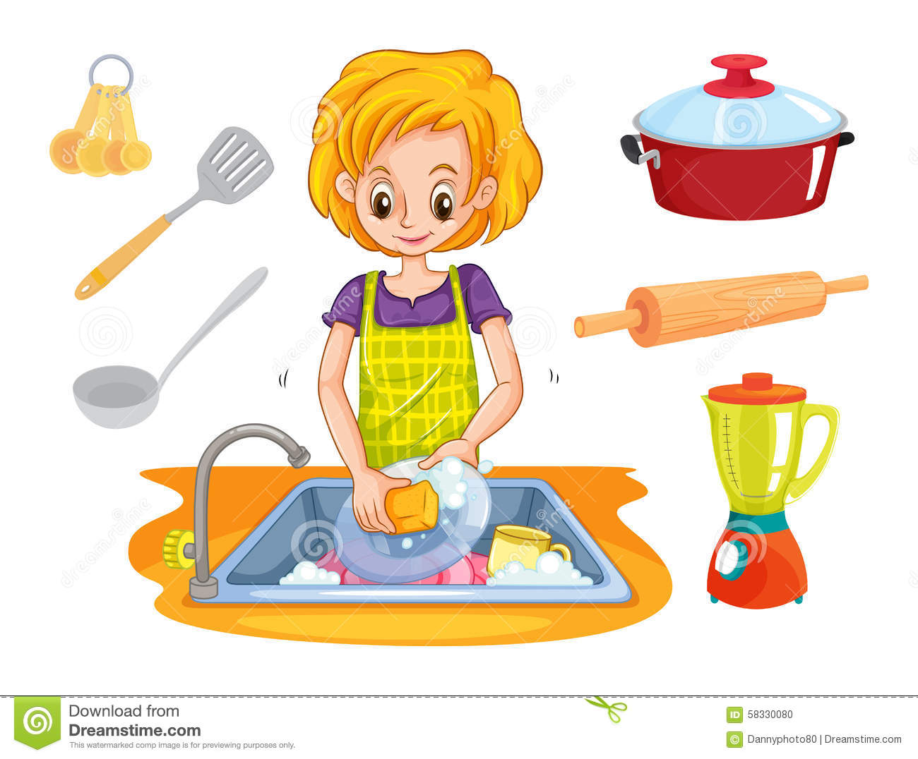 clipart free Of for washing utensils. Wash clipart uses water