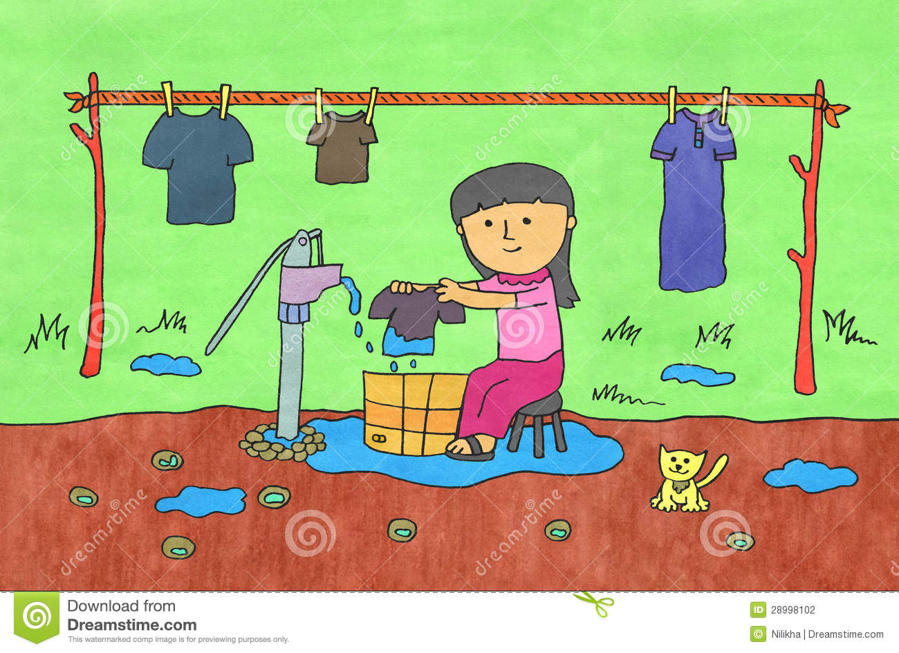 jpg transparent library Of for washing clothes. Wash clipart uses water