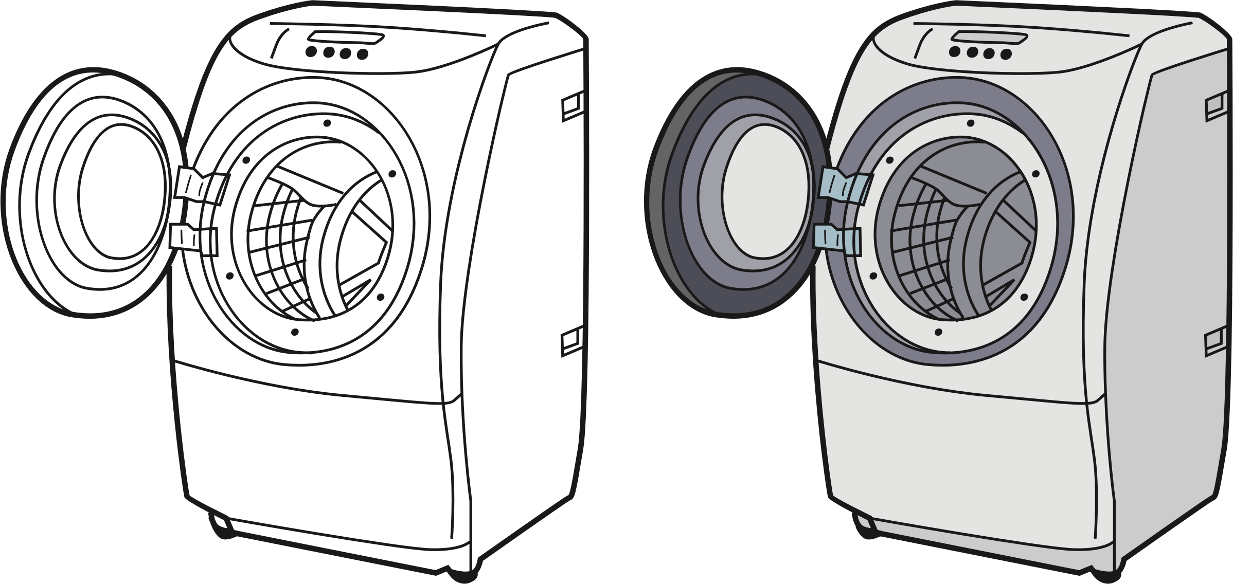 graphic library library . Washing machine clipart