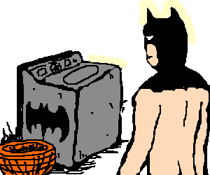 clipart free library Washing clipart batman. Waiting for machine to