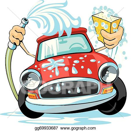clipart black and white download Washing clipart carwash. Vector art car wash
