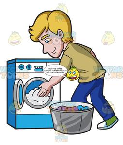 transparent stock Washing clipart shirt. A man places the