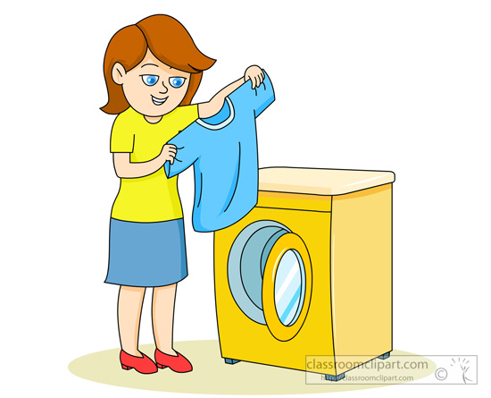 clipart free Pencil and in colo. Washing clipart shirt