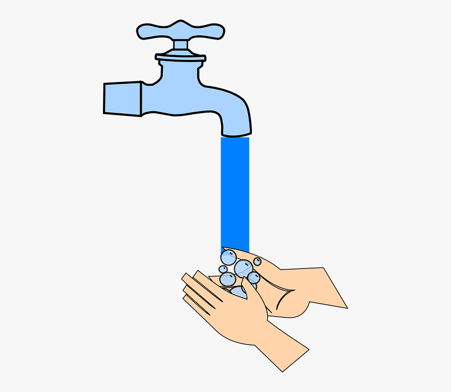 clip free library Washing clipart tap. Water hand faucet wash