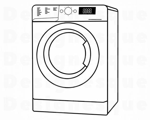 png stock Washing machine clipart. Washer outline svg laundry