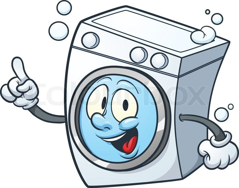 clipart royalty free Washing machine clipart. Funny stickers laundry design