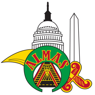picture black and white download Donate almas shriners to. Washington dc clipart