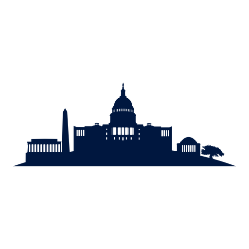 svg black and white download Washington dc skyline cityscape silhouette PNG image