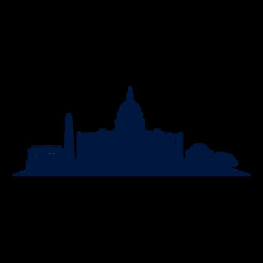 vector royalty free download Skyline cityscape silhouette png. Washington dc clipart landscape