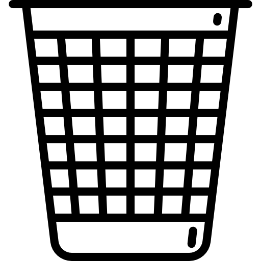 banner freeuse download Bin waste tools utensils. Trash clipart black and white