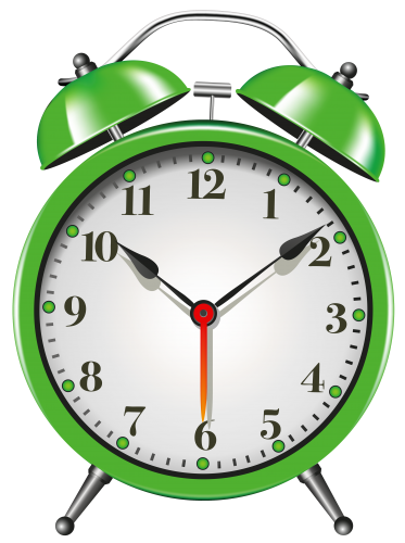 black and white stock Green alarm clock png. Watch clipart.