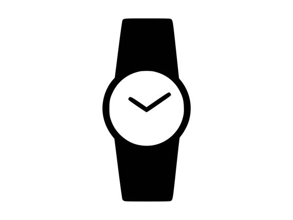 picture black and white Svg wrist time silhouette. Watch clipart.