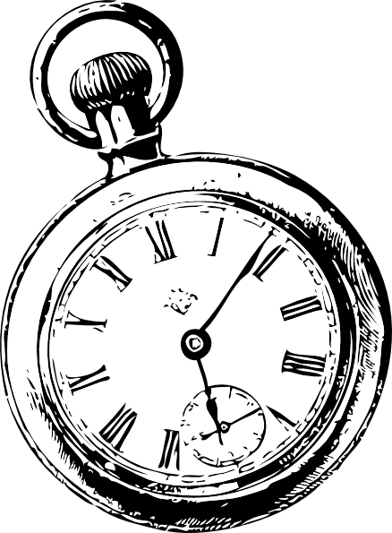 png library Clock svg alice in wonderland. Drawn watch sketch free.