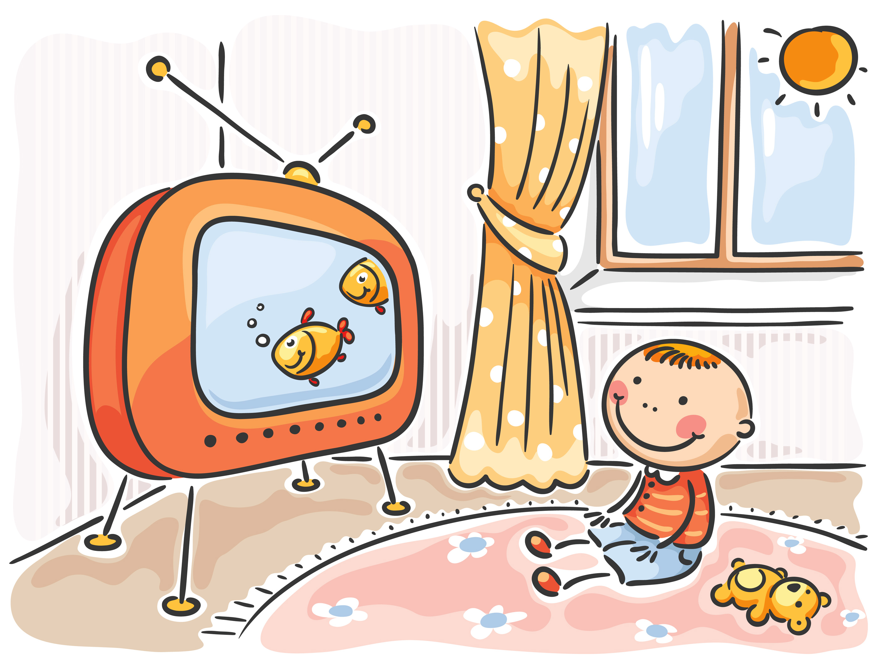 jpg free Free cliparts download clip. Kid watching tv clipart.