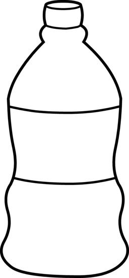 clip art free library Water Bottle Clipart Black And White