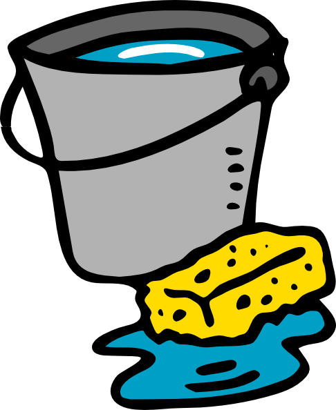 download Sponge clipart animated. Cleaning bucket .