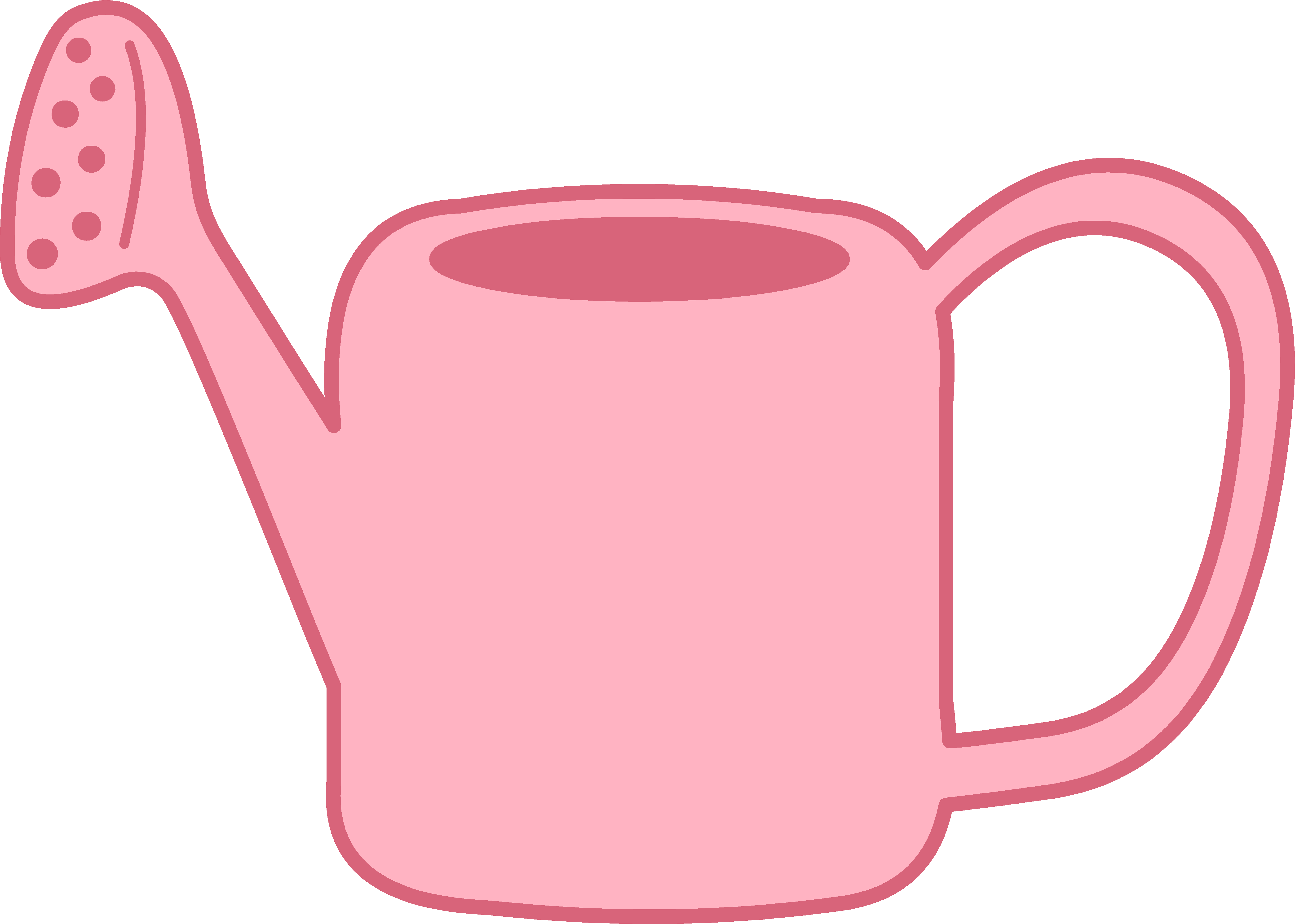 svg Pink Garden Watering Can