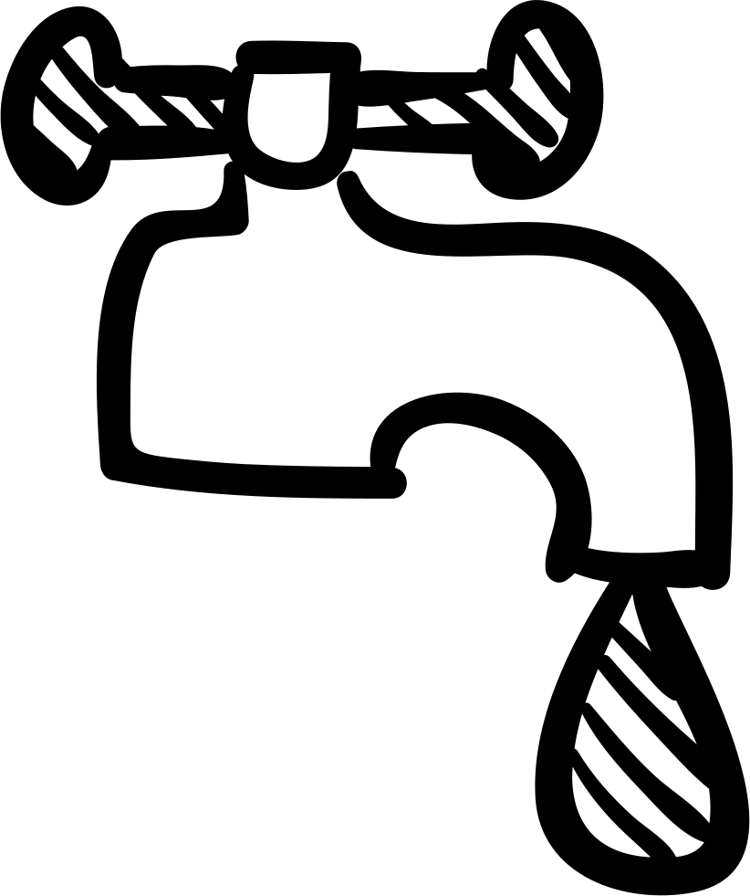 jpg freeuse download Water faucet clipart black and white. Tap drawing at getdrawings