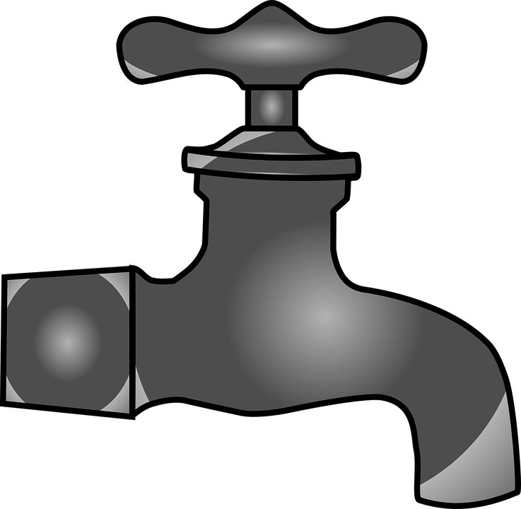 picture royalty free download Water faucet clipart black and white. Png transparent pipes tap