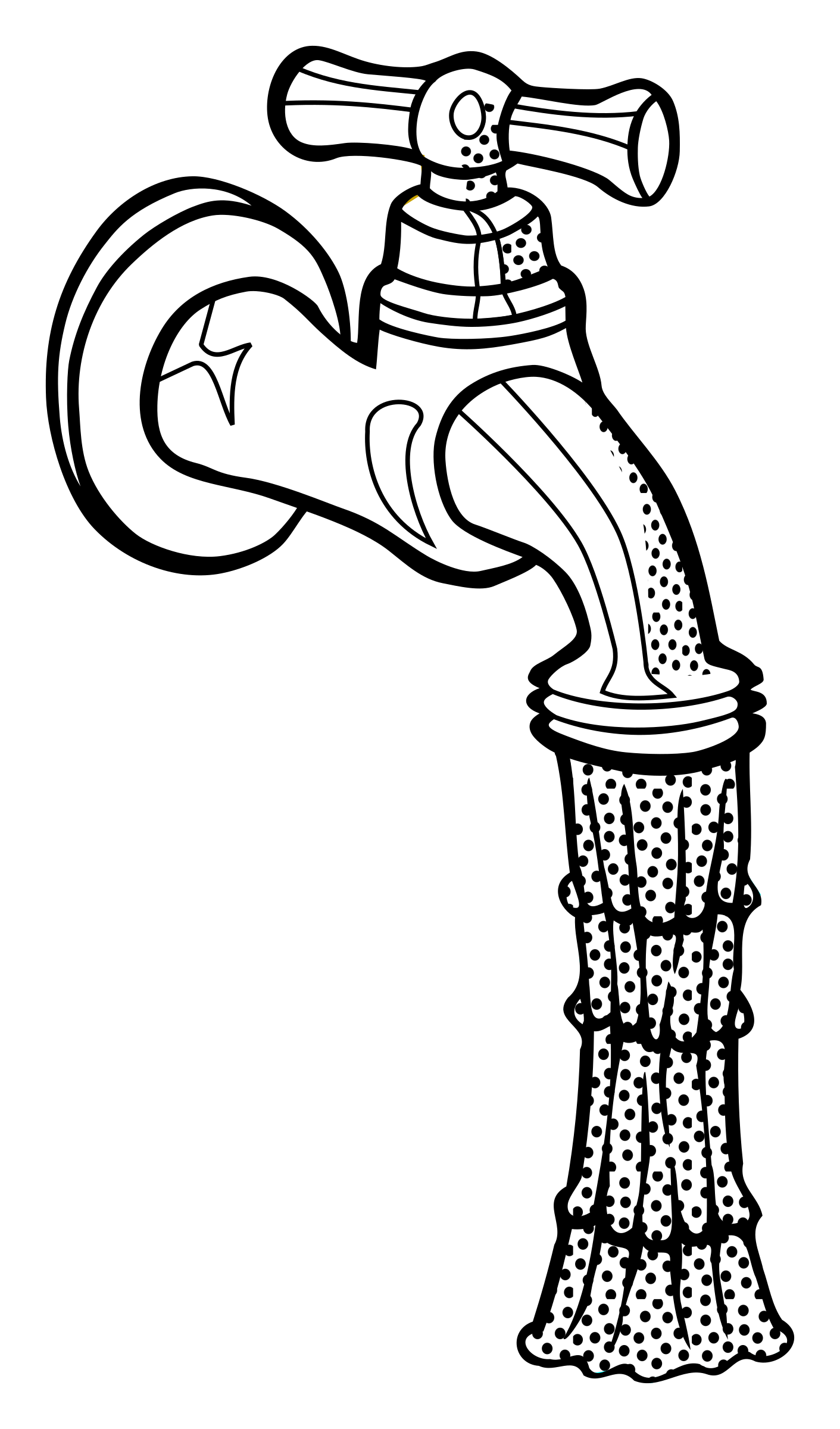 graphic download Water faucet clipart black and white. Line drawing at getdrawings