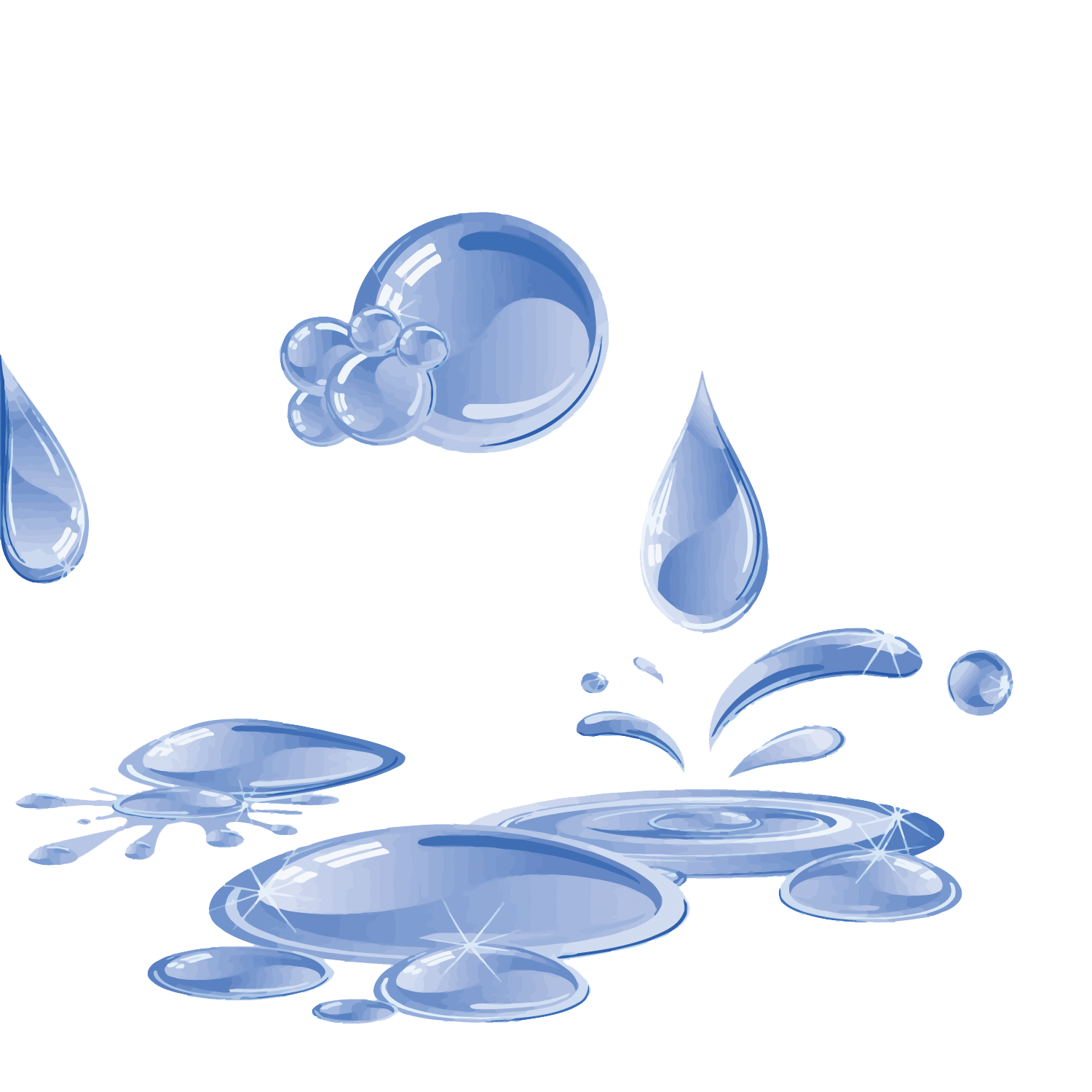 vector library download Water Blue Puddle
