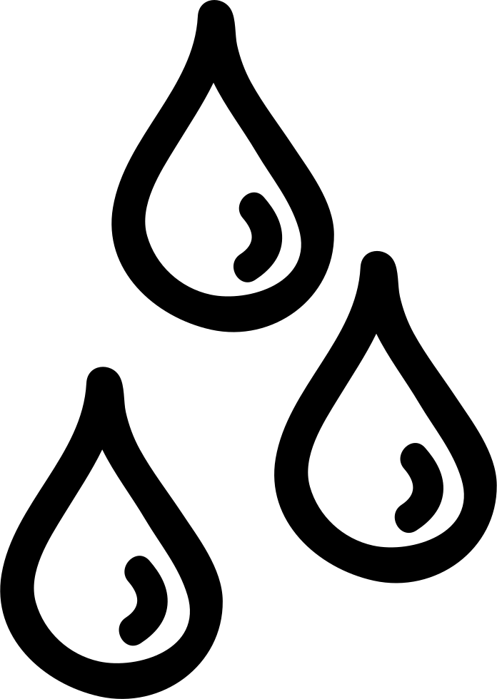 graphic transparent Drops hand drawn outlines. Water svg